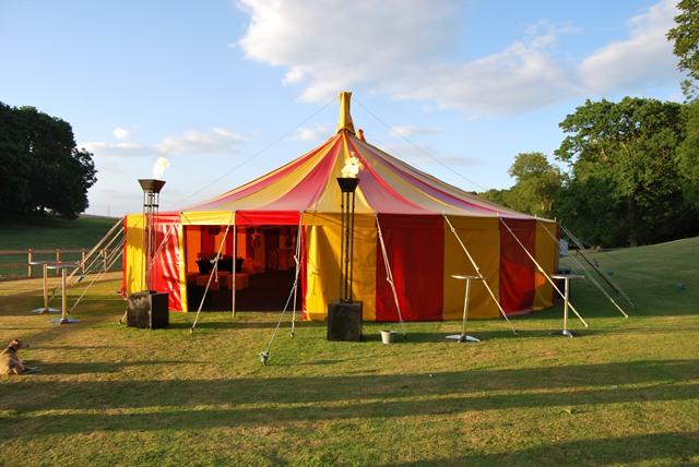 Big Top tent exterior
