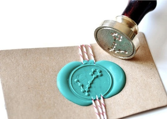 Wax seal Pisces