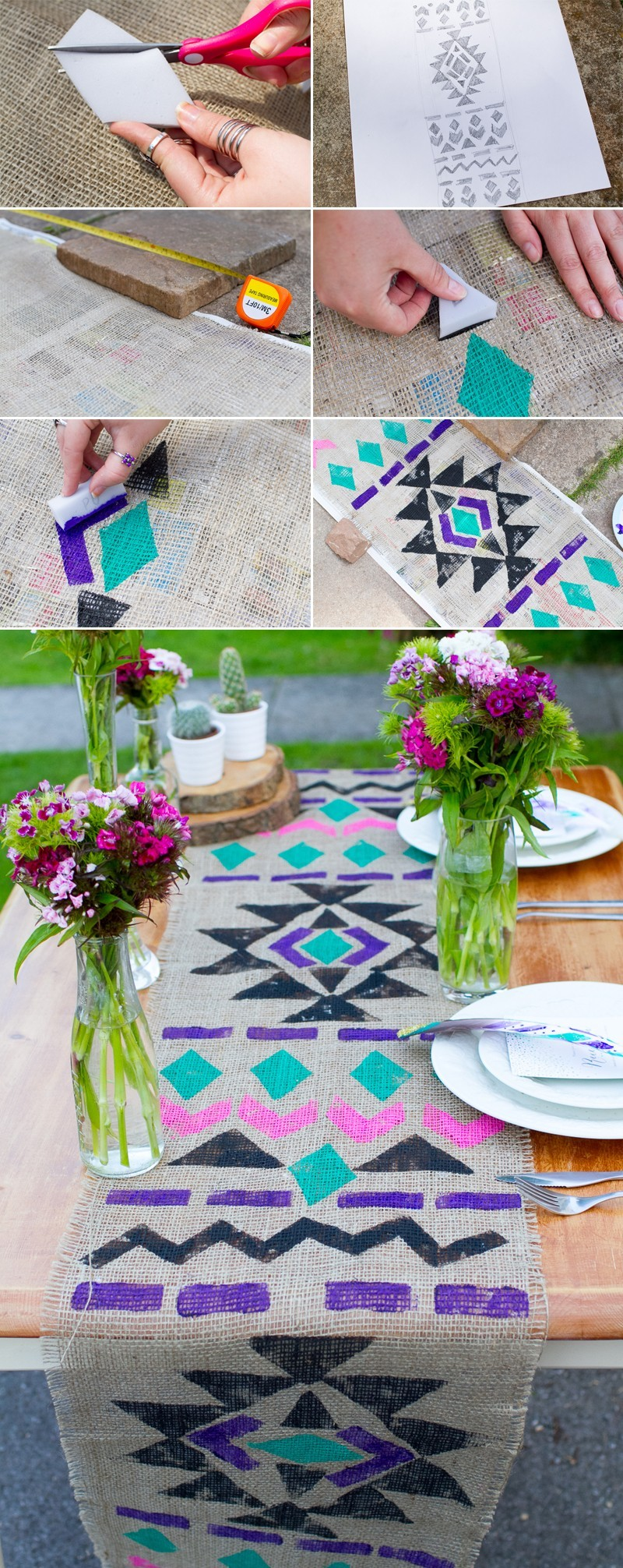 Aztec Table Runner Collage