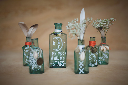 Festival Brides DIY: Beachy Boho Bottles + an Awesome Giveaway!