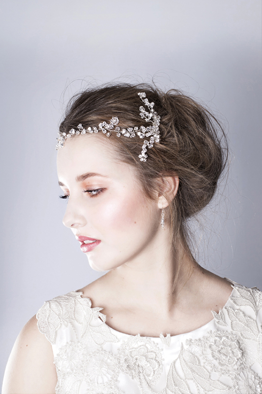 Amaris wedding hair combs modelled 2, u00A3195,  www.rosiewillettdesigns.co.uk