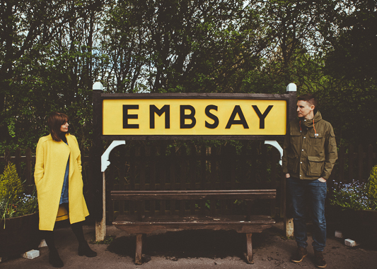 Anna & Myles Embsay Steam Railway Engagement Shoot By Shutter Go Click Photography-1