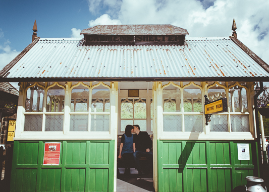 Anna & Myles Embsay Steam Railway Engagement Shoot By Shutter Go Click Photography-12