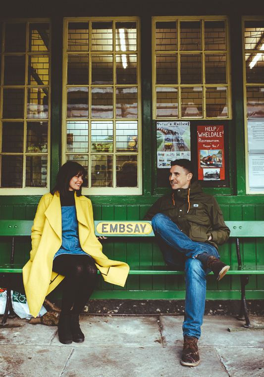 Anna & Myles Embsay Steam Railway Engagement Shoot By Shutter Go Click Photography-150