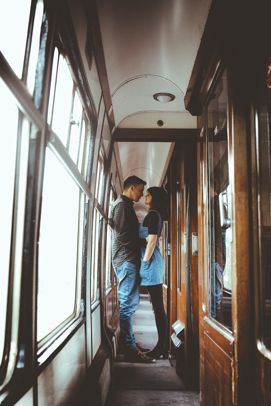 Anna & Myles Embsay Steam Railway Engagement Shoot By Shutter Go Click Photography-161