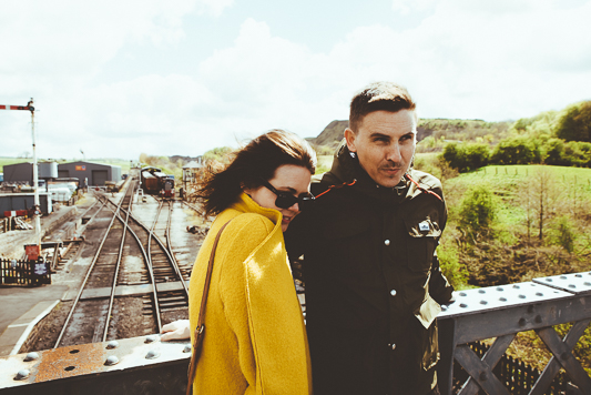 Anna & Myles Embsay Steam Railway Engagement Shoot By Shutter Go Click Photography-30