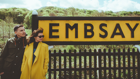 Anna & Myles Embsay Steam Railway Engagement Shoot By Shutter Go Click Photography-33