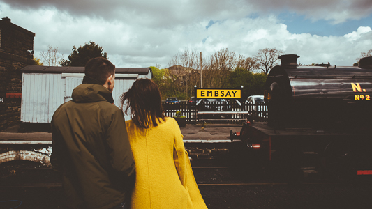 Anna & Myles Embsay Steam Railway Engagement Shoot By Shutter Go Click Photography-34
