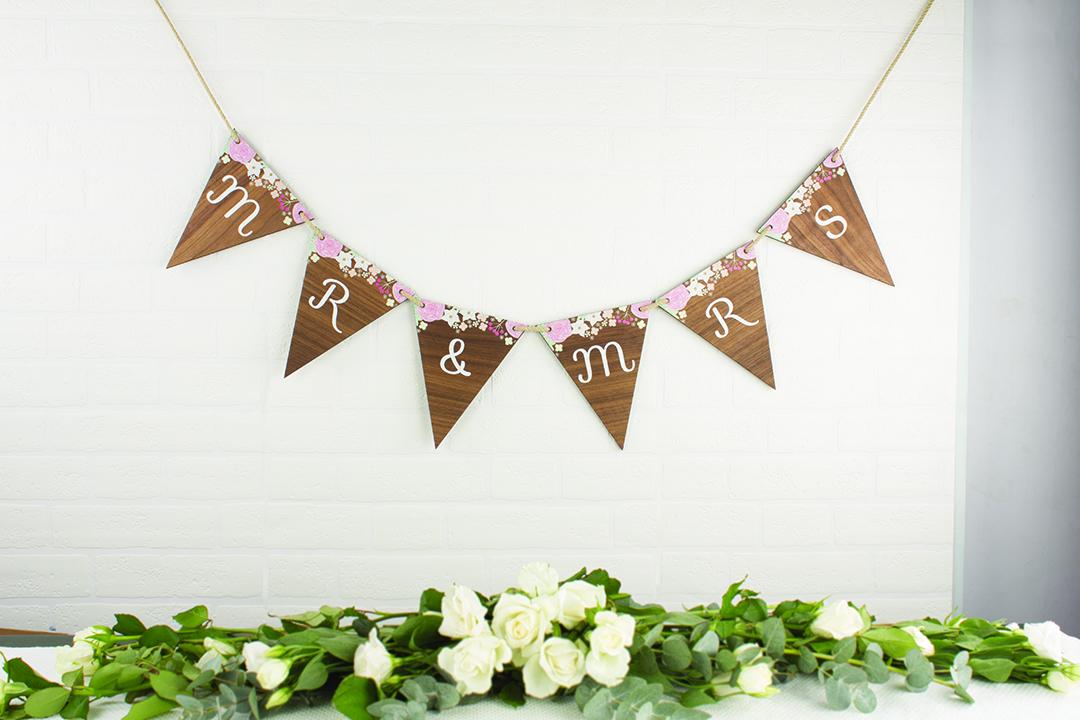 Personalised-Wedding-Bunting-Wood-Floral-MLM415-HR-1