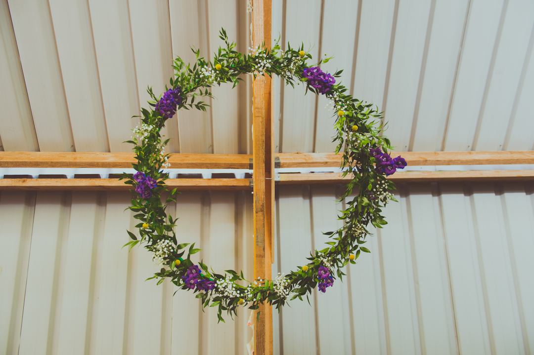 flower-chandelier-barn-wedding-decor-vicky-and-james-festival-wedding