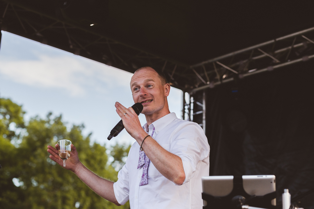 speeches-jen-and-mat's-festival-wedding-at-Scraptoft farm