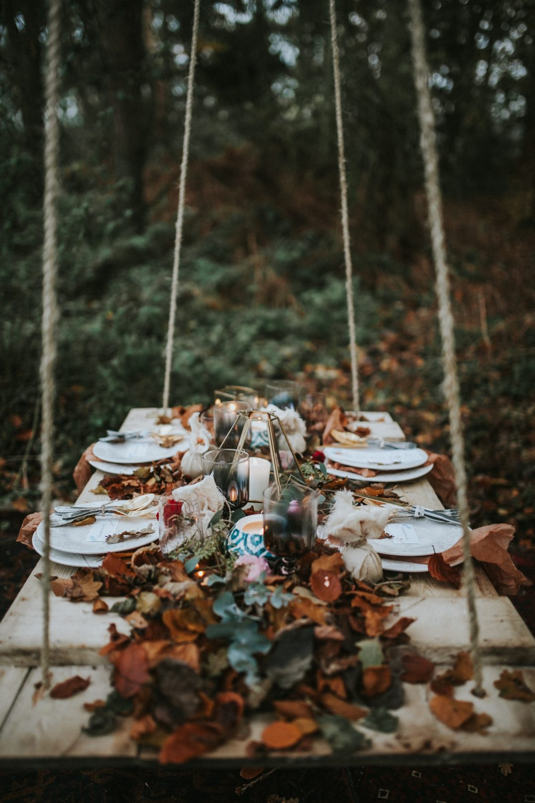 autumn winter woodland styled wedding shoot in Norfolk