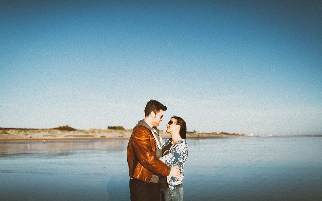 Natalie and Digby's Beautiful Beach Engagement Shoot