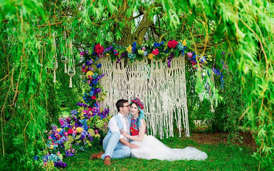 Festival Wedding Inspiration | A Bright and Colourful Bridal Shoot