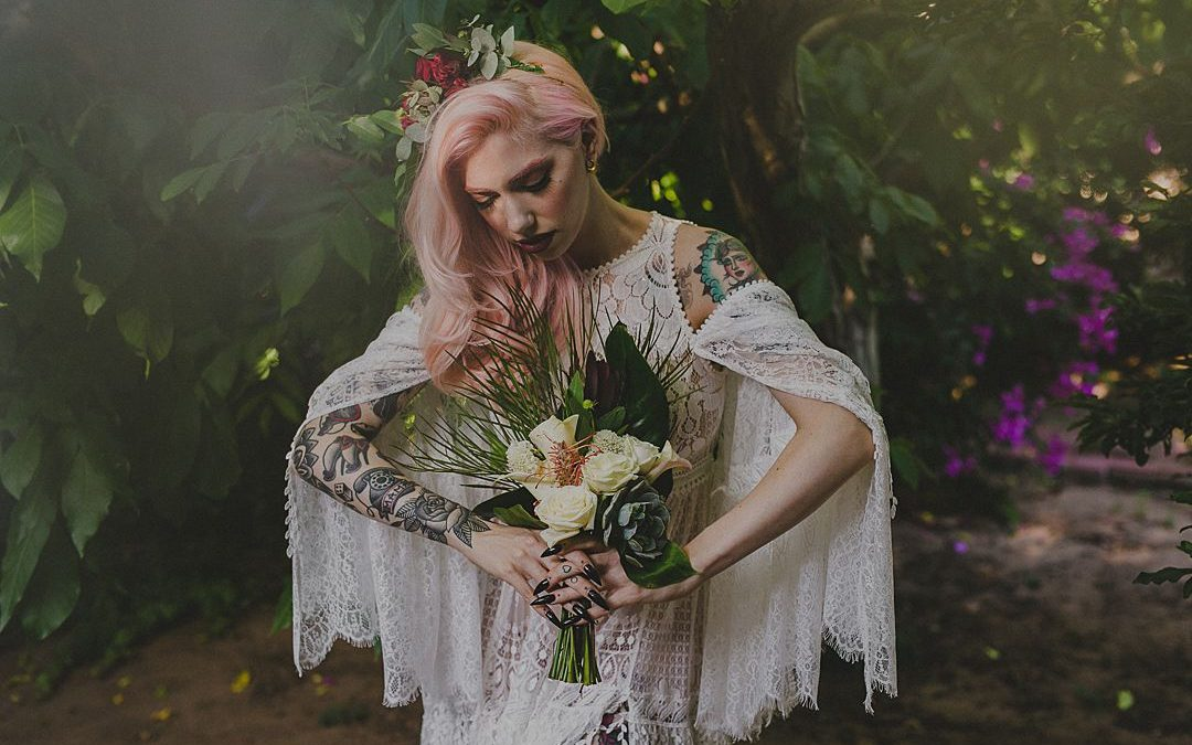 The Unconventional Bride | A Bohemian Styled Bridal Shoot In A Secret Garden