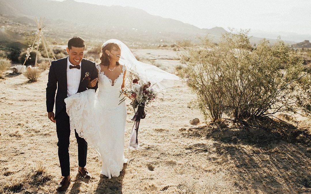 California Dreaming | Joy and Phuoc's Whimsical Desert Elopement Wedding