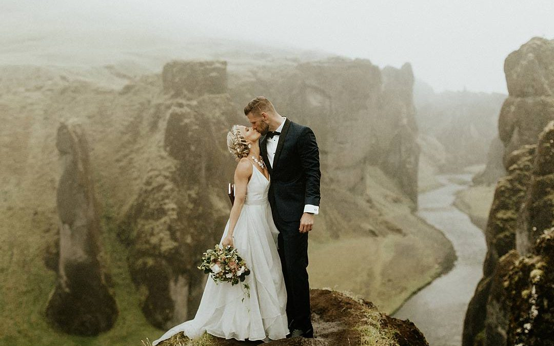 Intimate Union | Morgan and Austin's Icelandic Clifftop Elopement