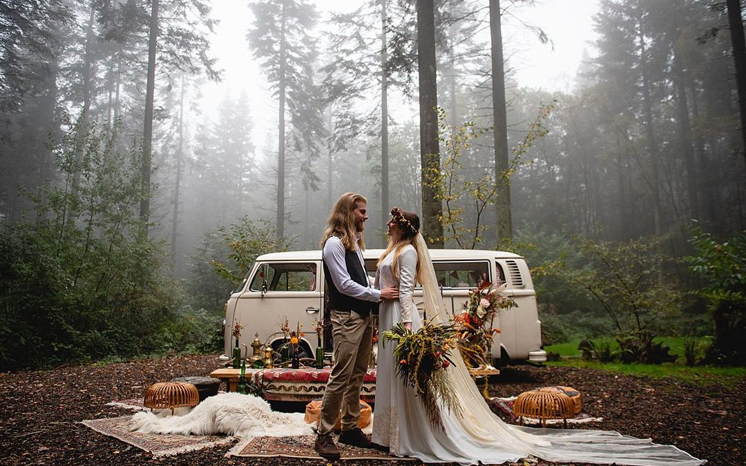 A Beautiful and Misty Bohemian Wedding Shoot in The Woods….